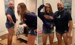 Teen girls daisy duke shorts