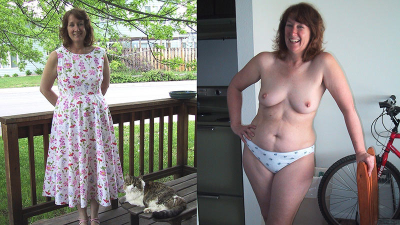 Mature amateur wives before and after