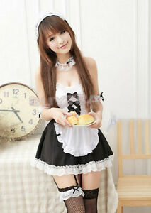 Asian teen idol cosplay maid