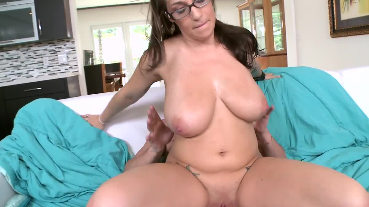 Big nerdy glasses tits with girl