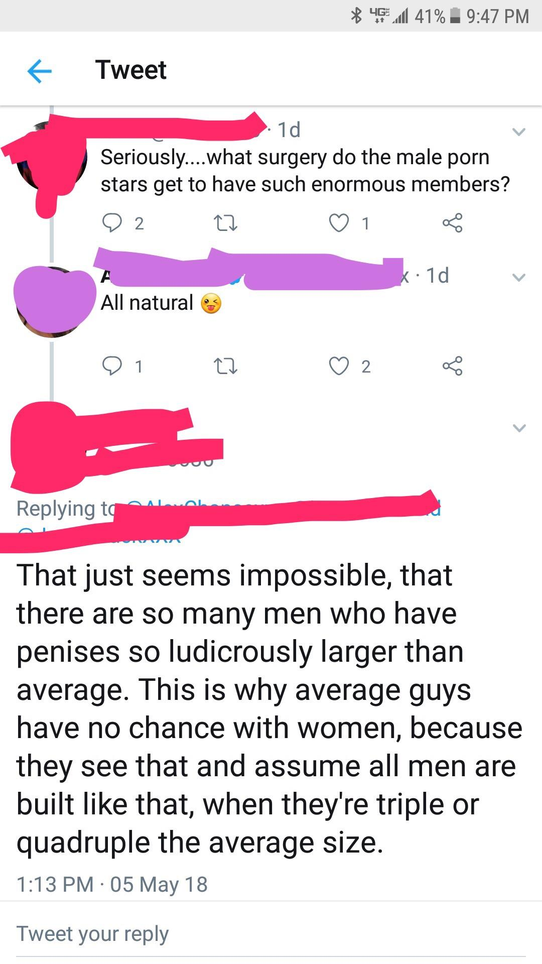 What size is the average penis pron