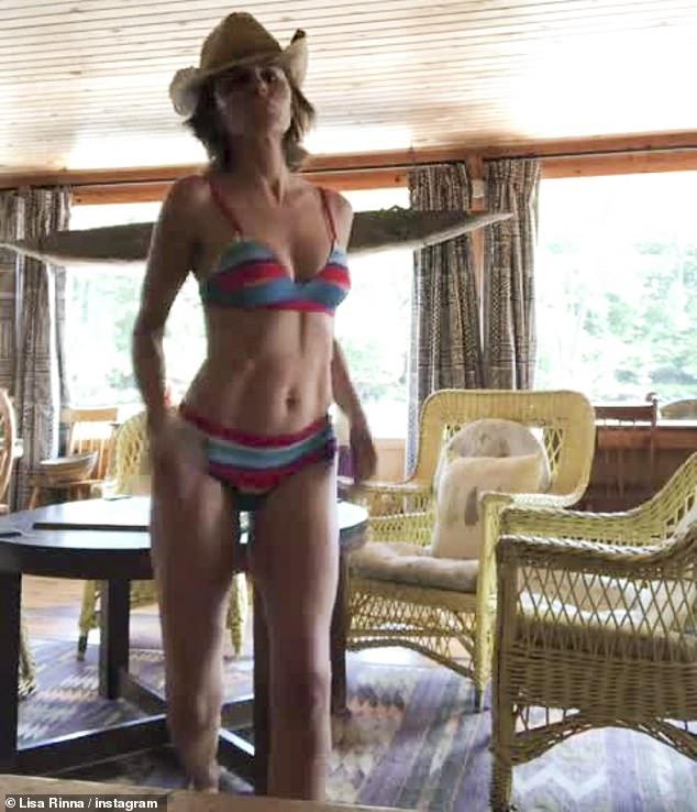 Skinny girl dancing in panties