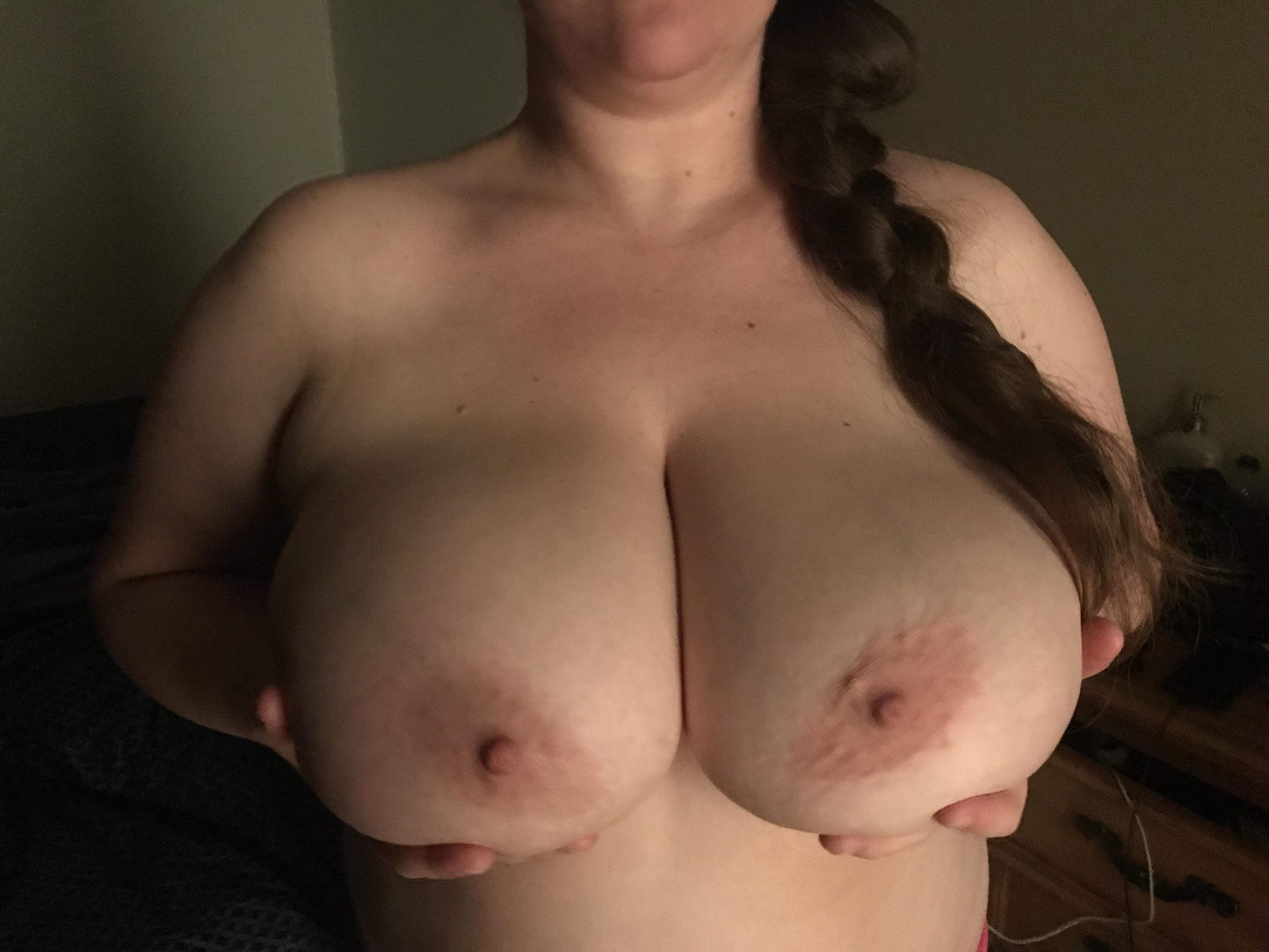 Cum on wives tits