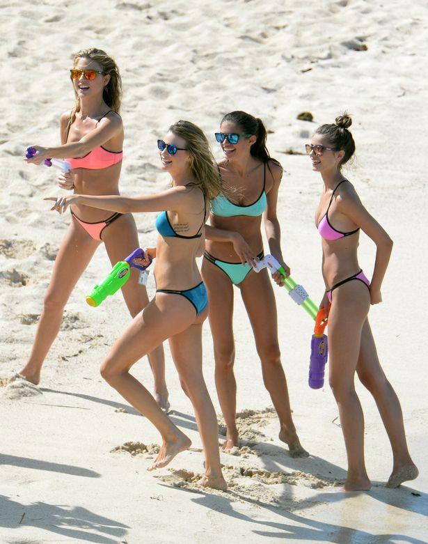 Hidden beach teen girls in bikinis