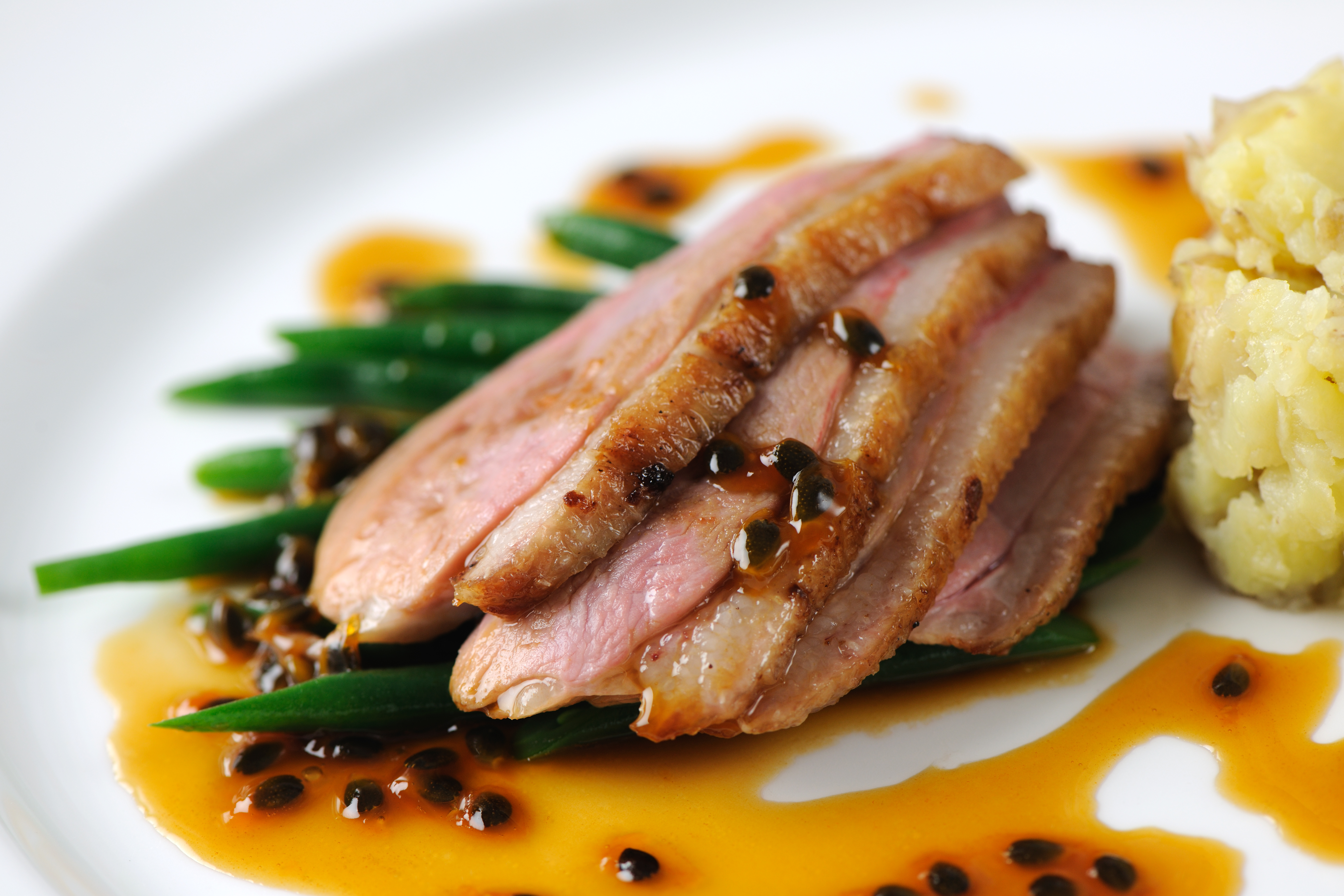 Duck breast with grand marnier
