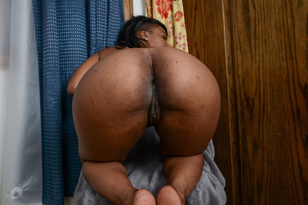 Black booty nude pussy