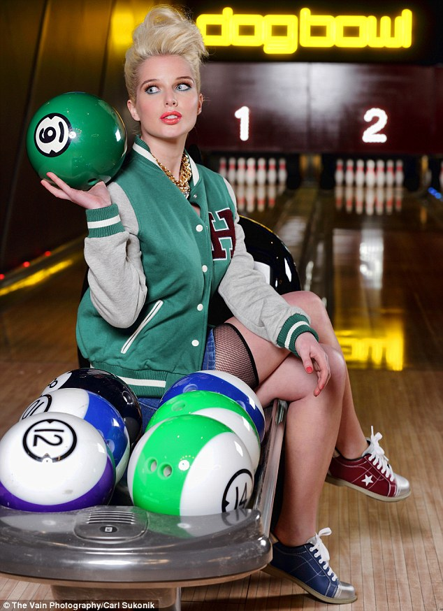 Sexy girls bowling in skirts