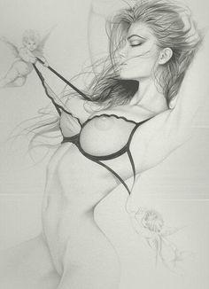 Pencil art hot sex