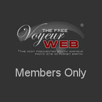 Nude women in heels outside
