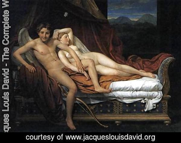 Jacques louis david cupid and psyche