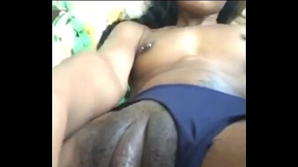Clit ebony with huge