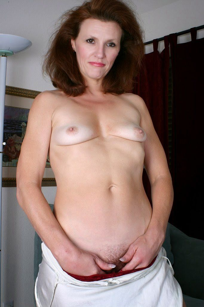 Mature flat milf nude chested