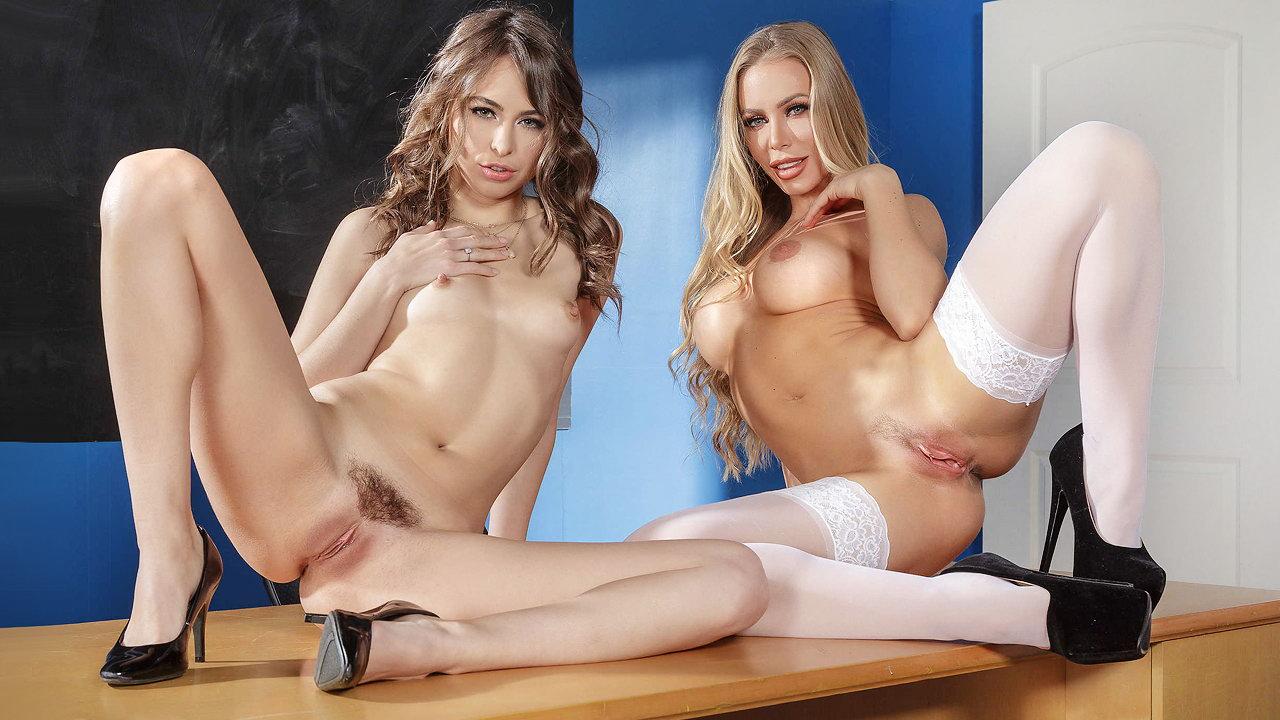 Naked girls having sex with teacher