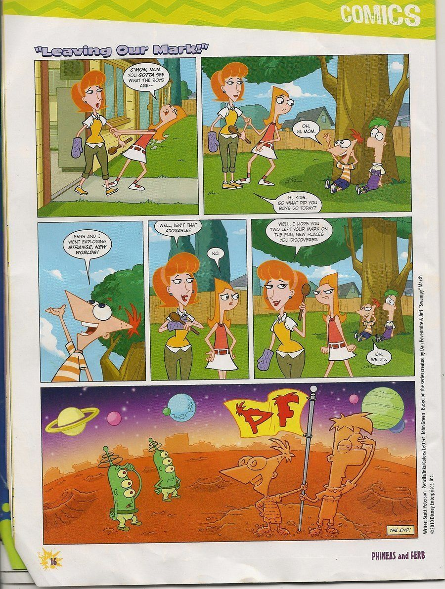 Nude phineas and ferb and mom comics