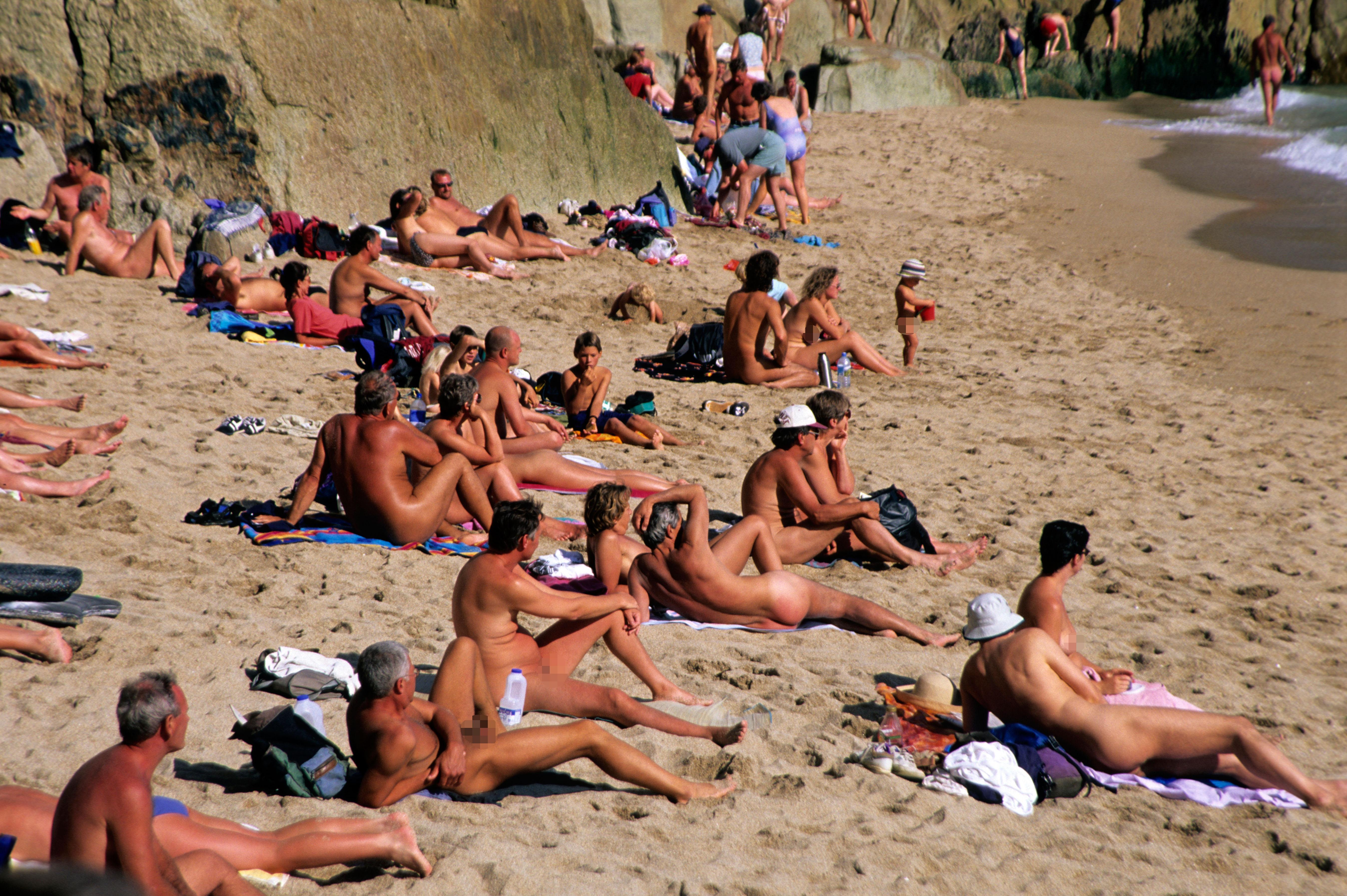 Beach naked real family