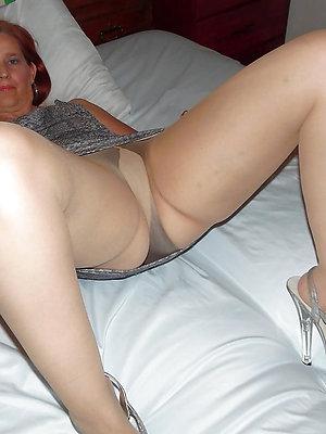 Old women wearing nude pantyhose