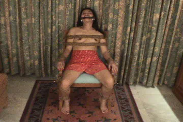 Tied gagged stripped fondled