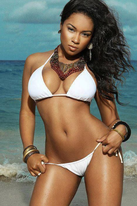 Sexy black women in swimsuits