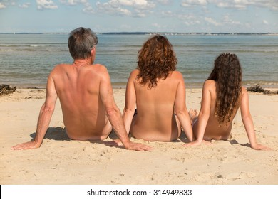 Naked nudist girls family