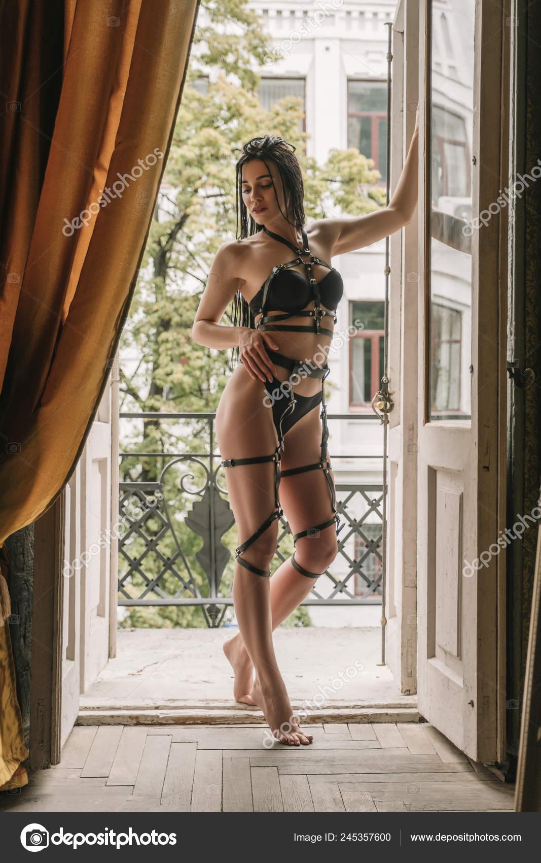 Sexy fit brunette lingerie