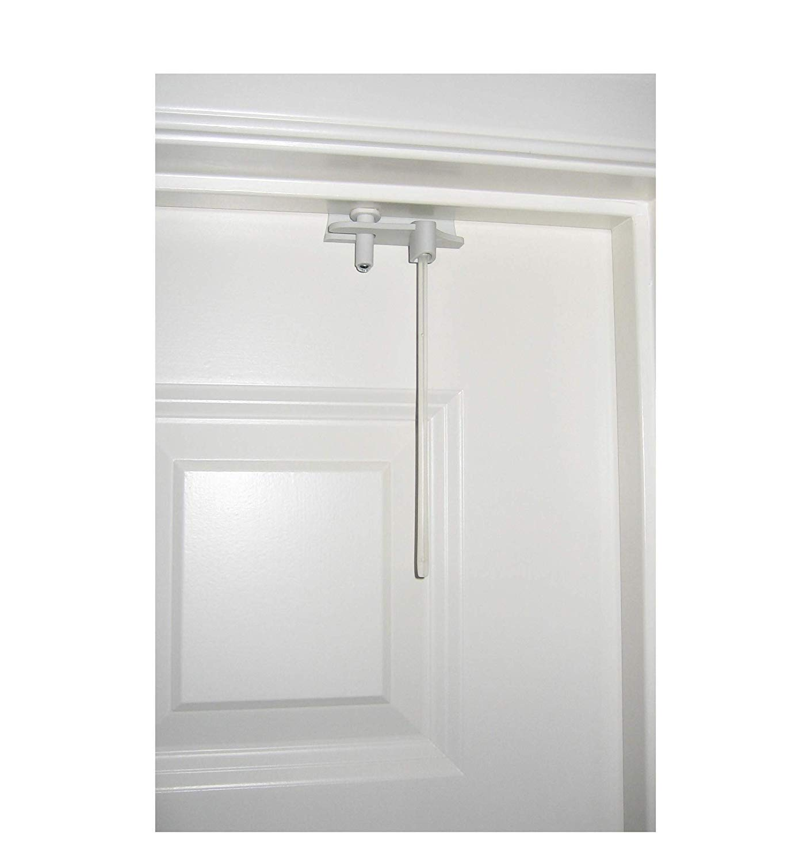 Inside swinging screen door lock latch