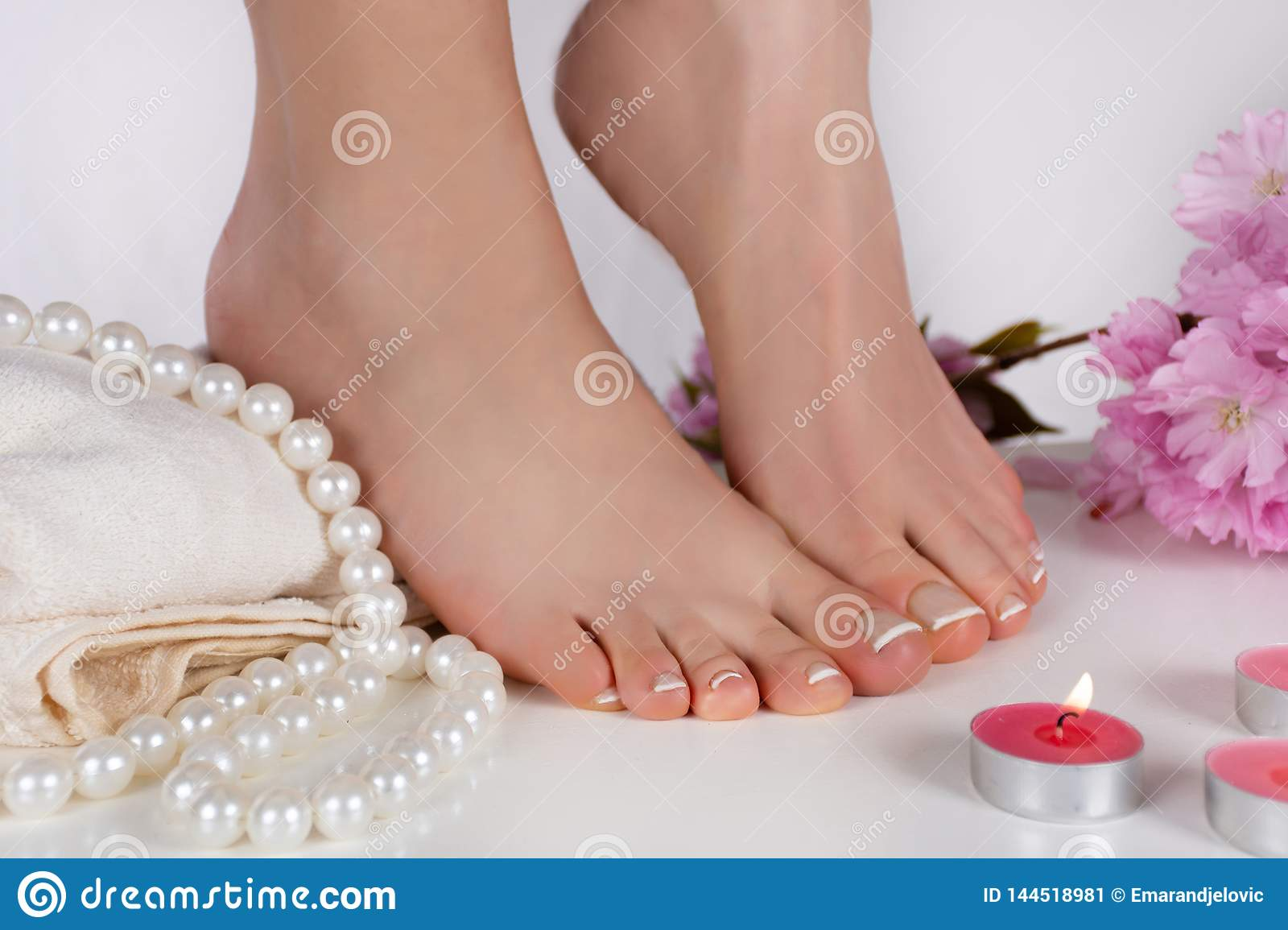 Naked fetish french pedicure