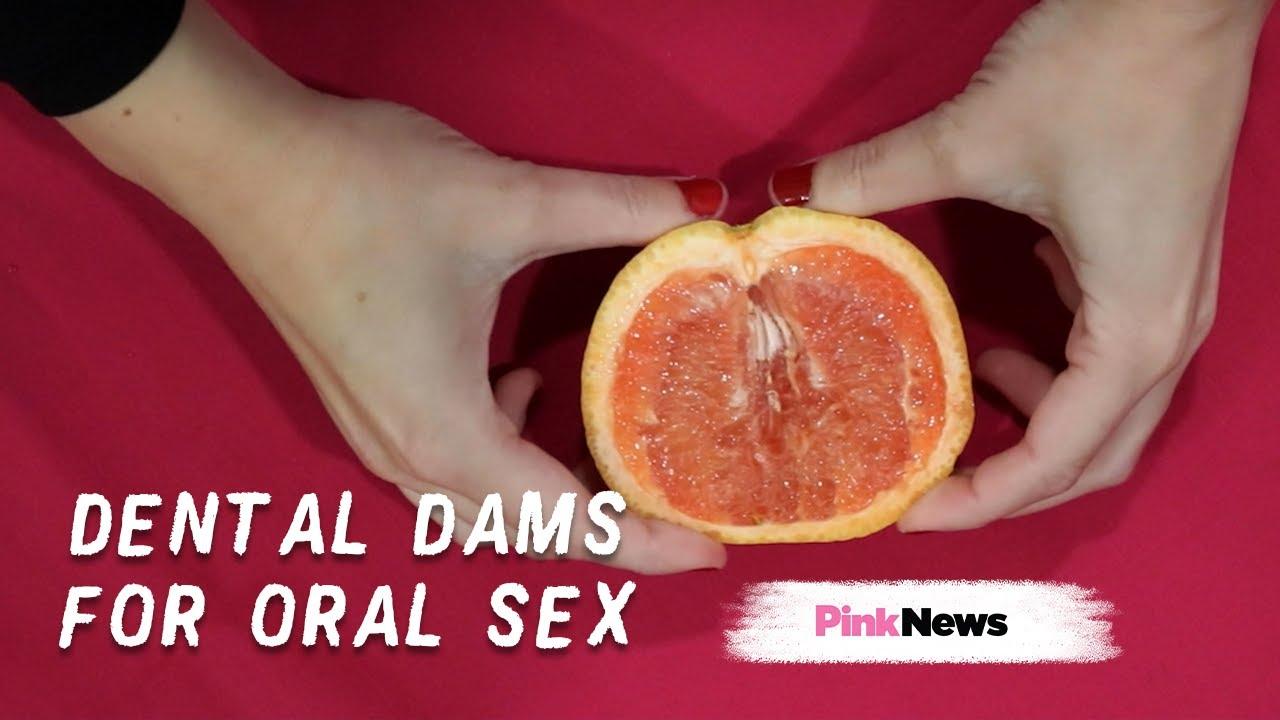 Lesbian dental dam oral sex
