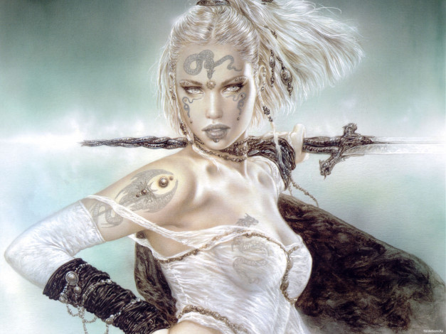 Luis royo fantasy art warrior women