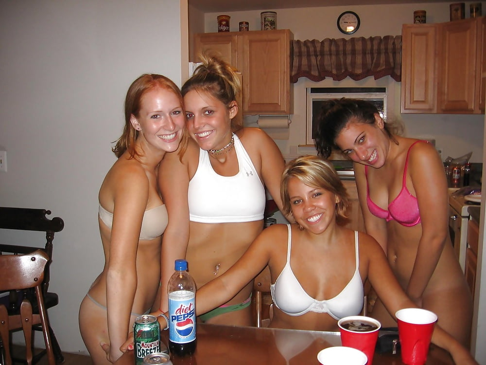 Nude girls beer pong