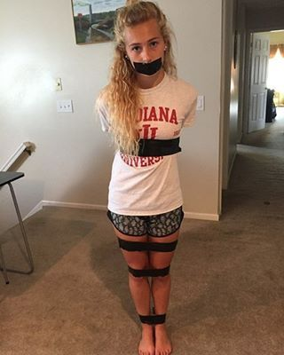 Girls bound gagged teen and