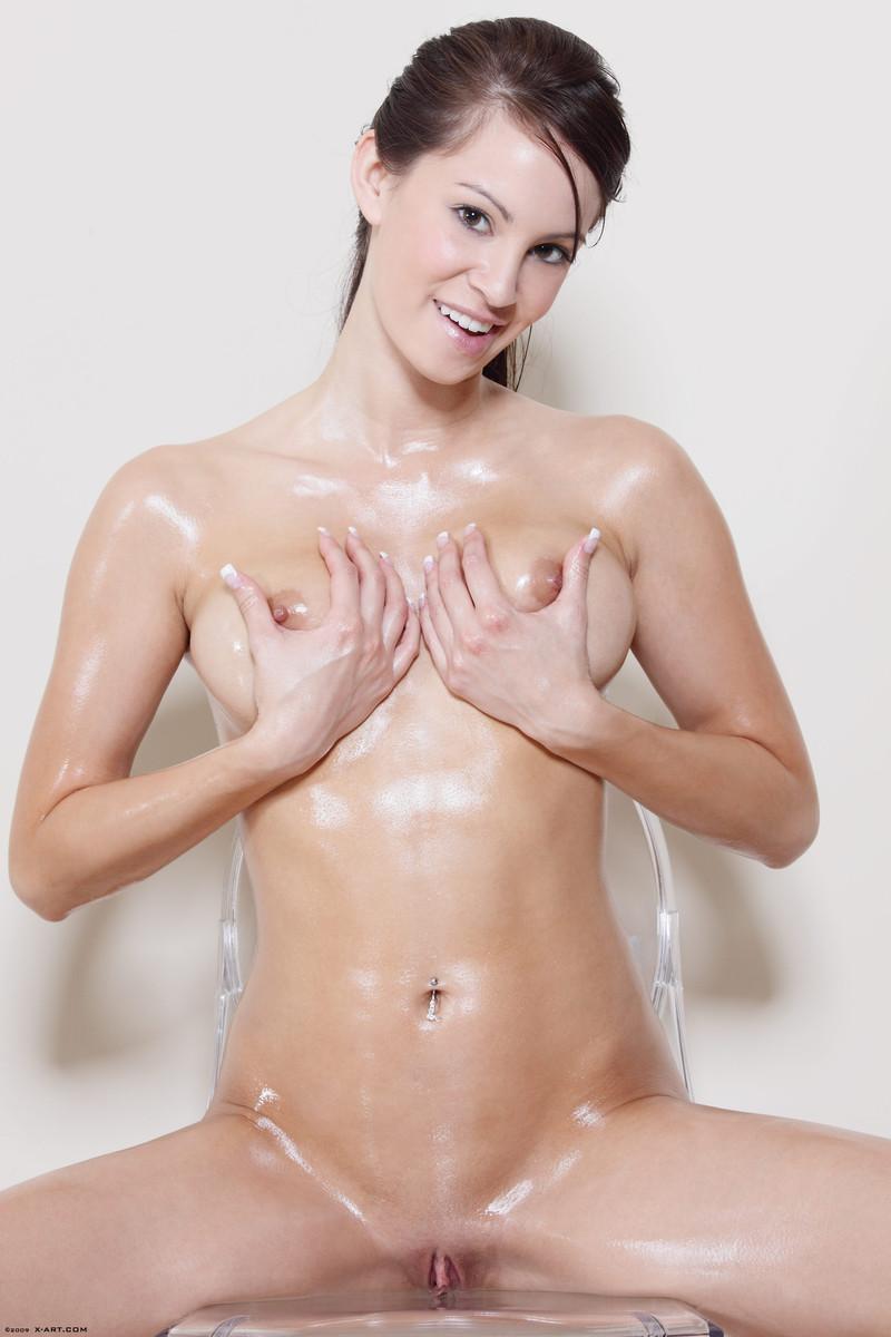 Sexg naked boobs oily