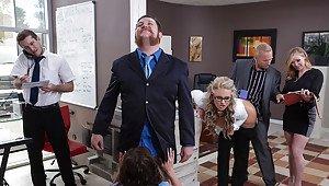 Hot big tit blonde milf teacher