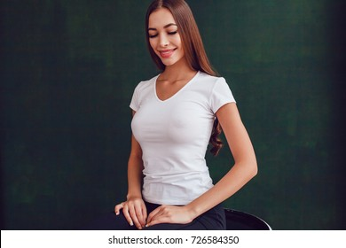 Boobs girl tank hot shirt in cute