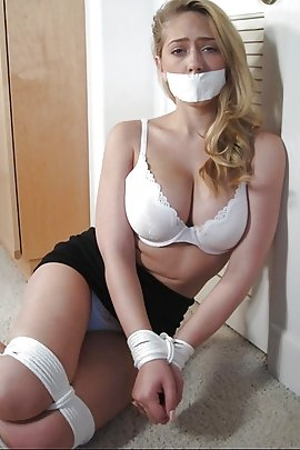 Hot sexy blonde girls tied up
