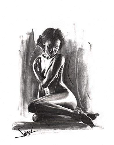 Erotic nude art drawing