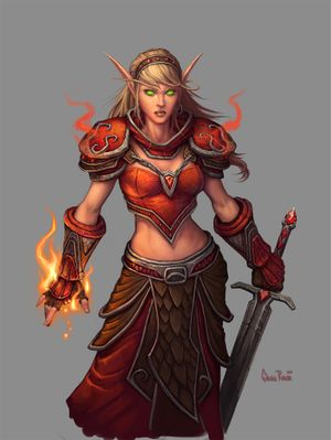 Princess of blood elves in wow