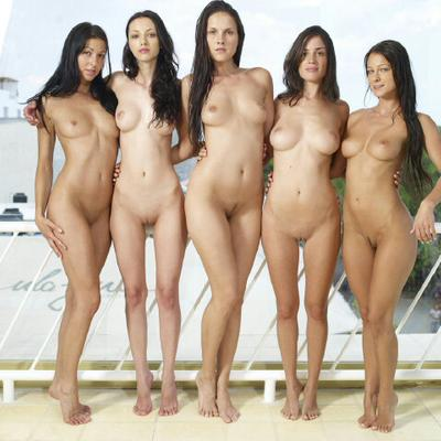 Sexy group naked women