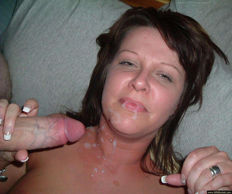 Amateur wife facial cumshot