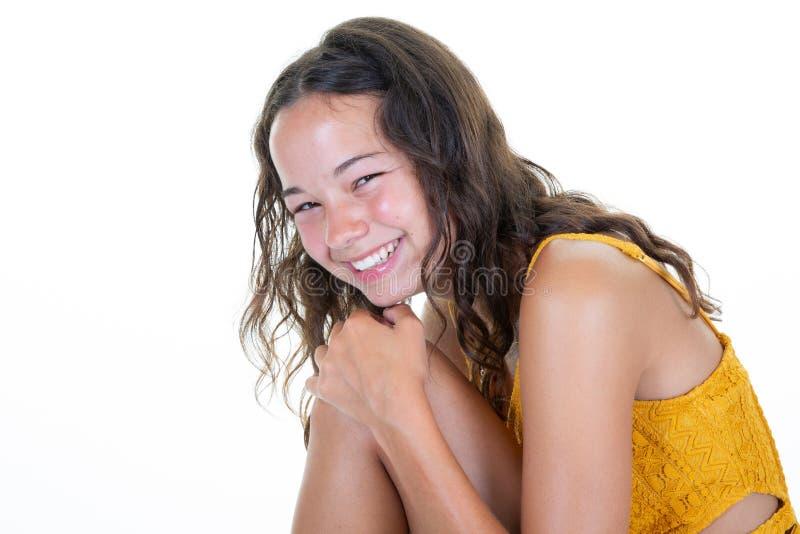 Brunette slim teen young
