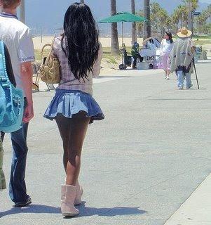 Amateur girls in mini skirts
