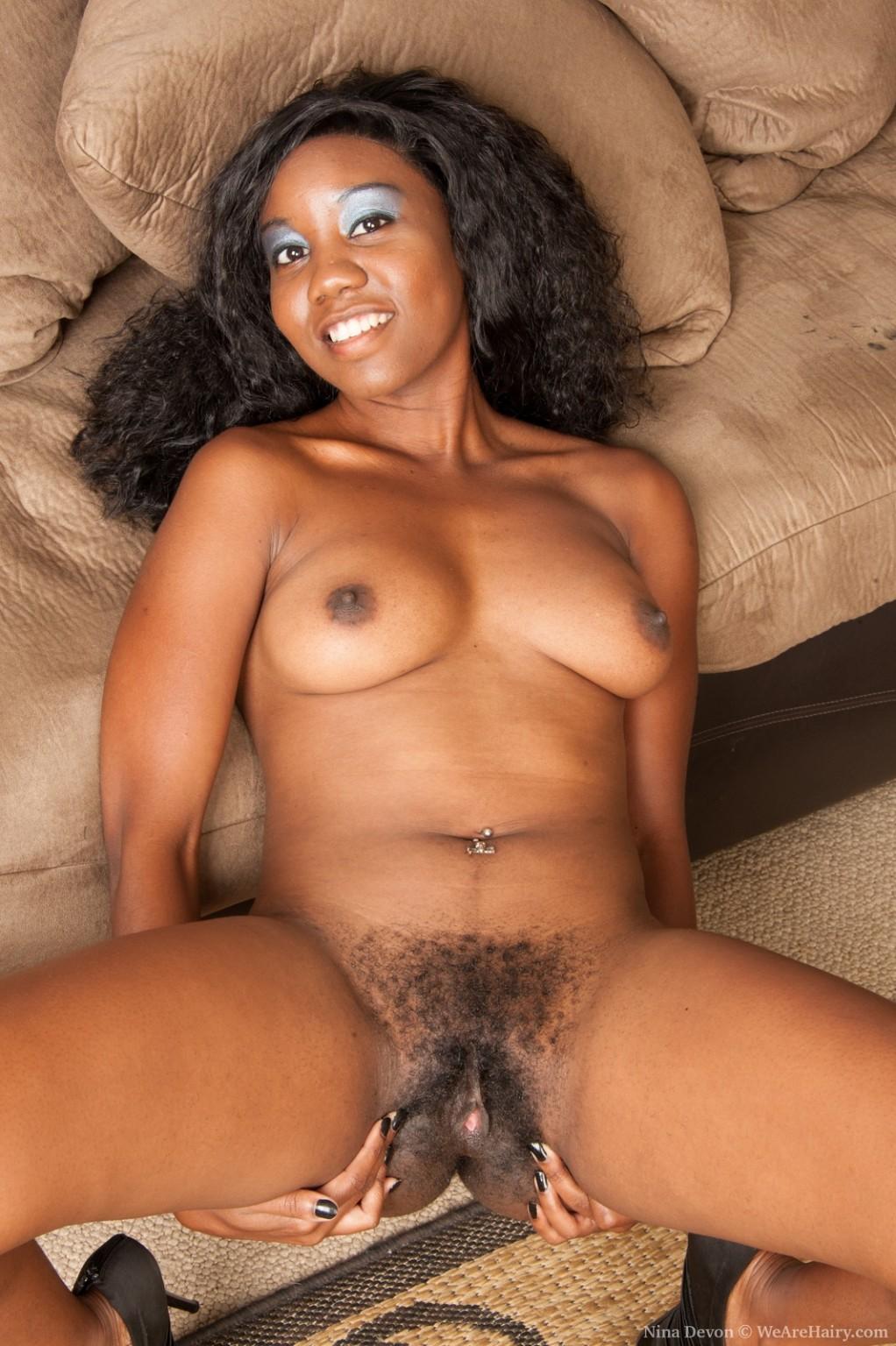 Black naked hairy vaginas