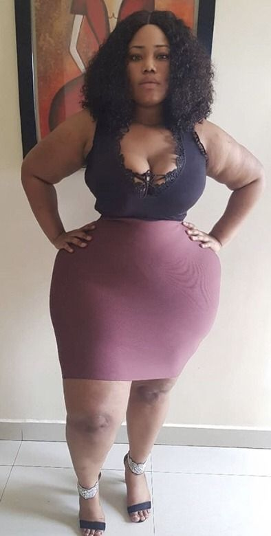 Ebony thick thighs wide hips