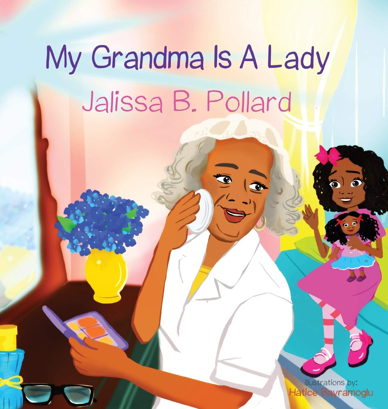 Young black girl with grandma
